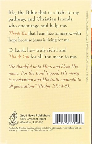 A Prayer for Thanksgiving (KJV), Pack of 25 Tracts