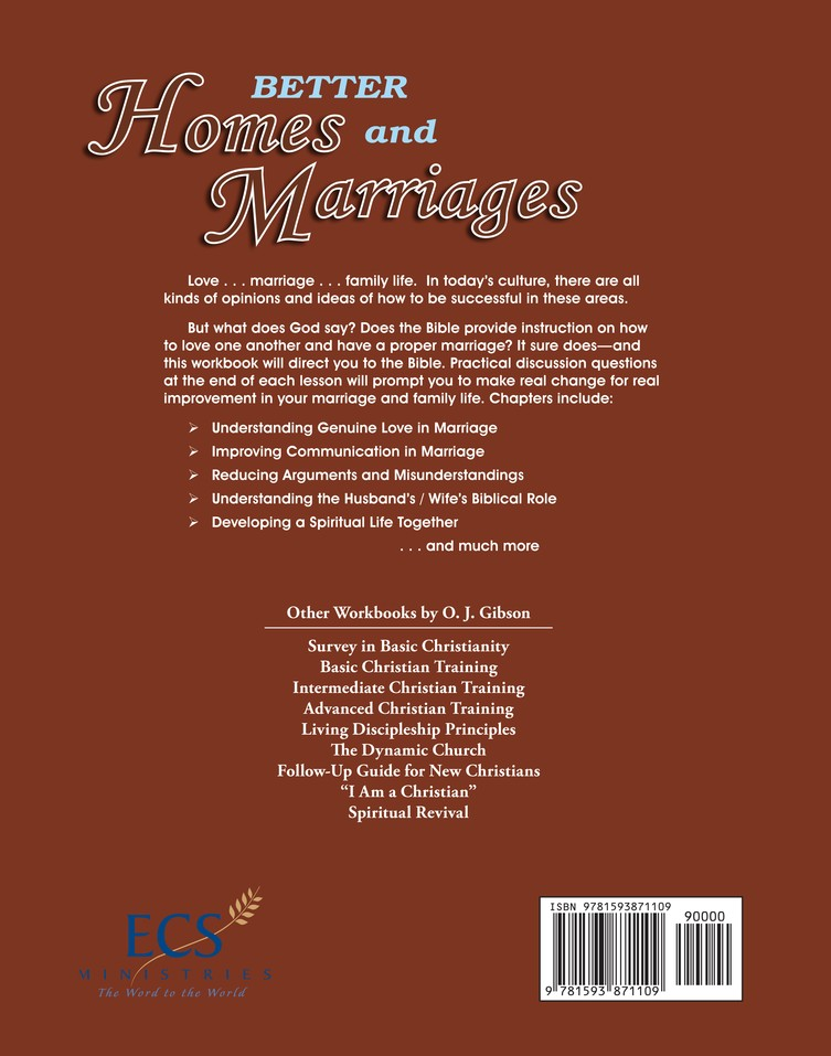 Better Homes and Marriages