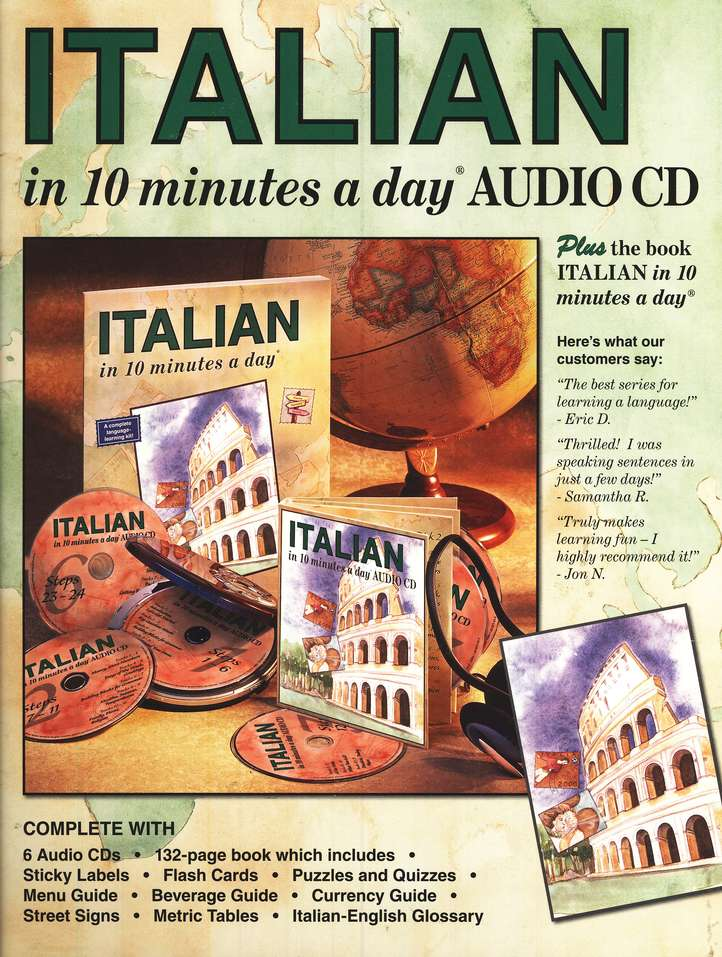 ITALIAN <i>in 10 minutes a day</i>®  AUDIO CD