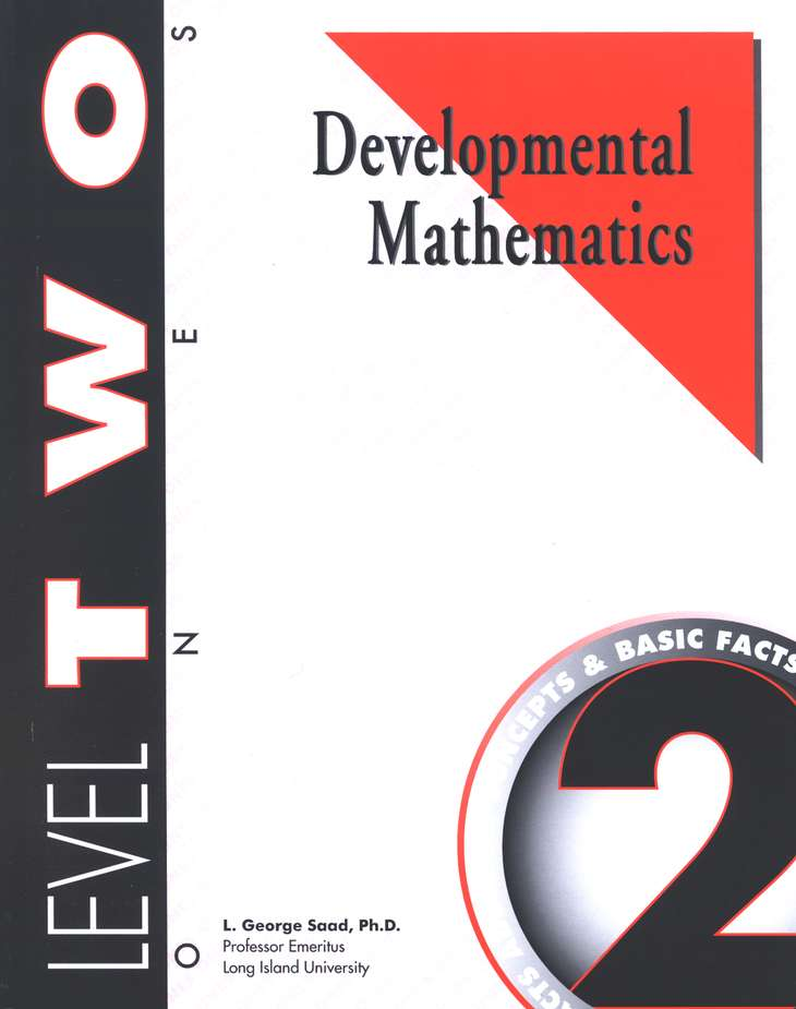 Developmental Math, Level 2, Student Workbook