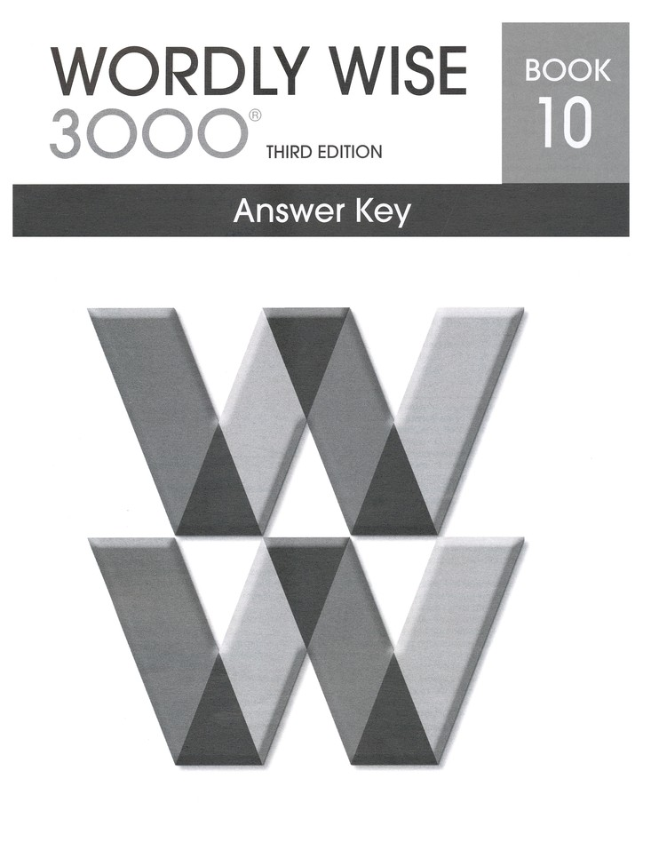 Wordly Wise 3000 3rd Edition Answer Key Book 10