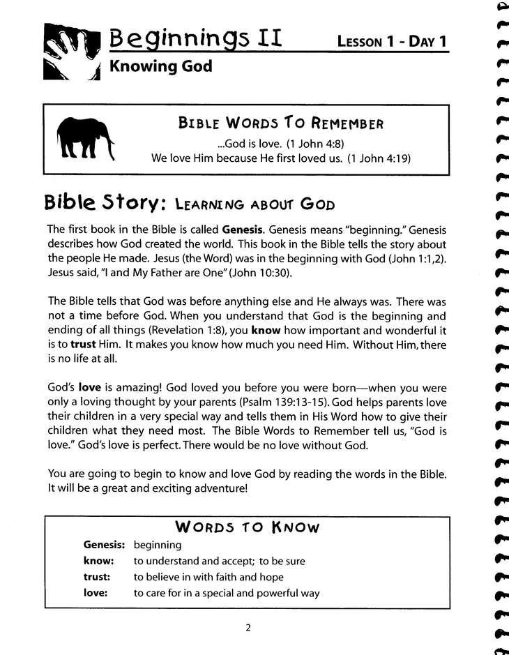God's Promises Student Workbook