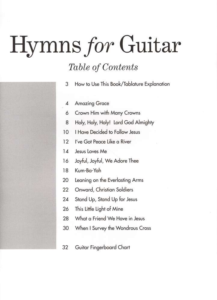 Hymns for Guitar: 14 Easy Solos and Duets