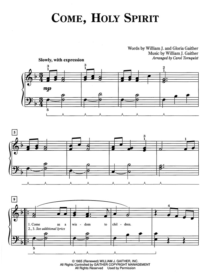 Pure and Simple Gaither: Arranged for Easy Piano