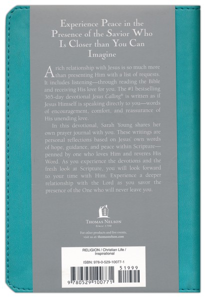 Jesus Calling, Deluxe Edition, Teal