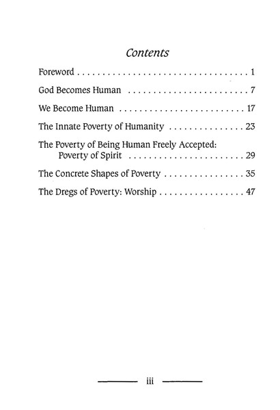 Poverty of Spirit