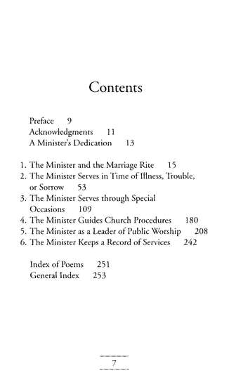 Minister's Service Manual, updated and expanded