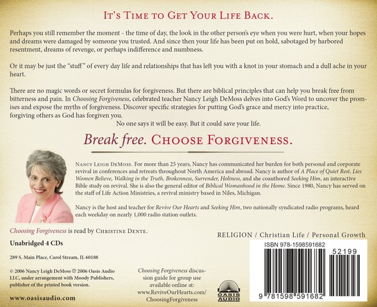 Choosing Forgiveness - audiobook on CD