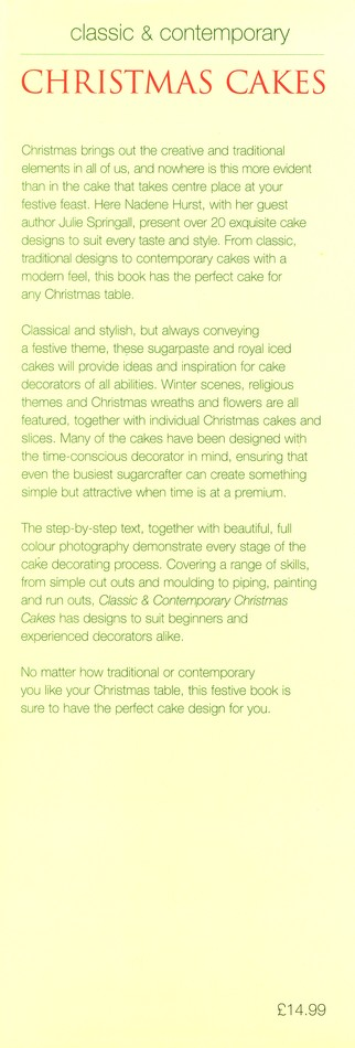 Classic & Contemporary Christmas Cakes