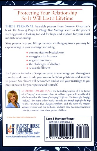 The Power of Prayer to Change Your Marriage, Book of Prayers