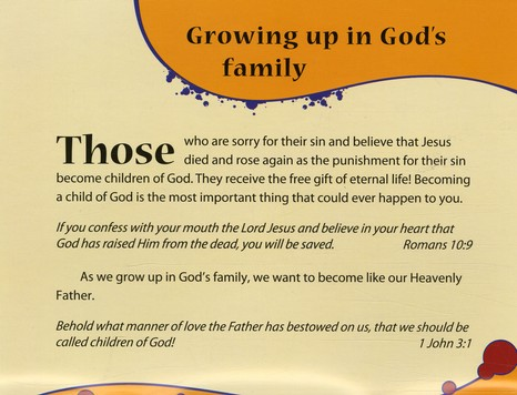 Growing Up in God's Family booklet NKJV (pack of 10)