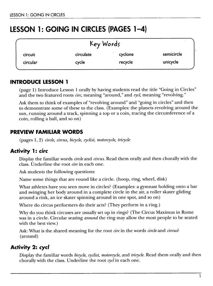 Vocabulary from Classical Roots Gr. 5 Teacher's Guide