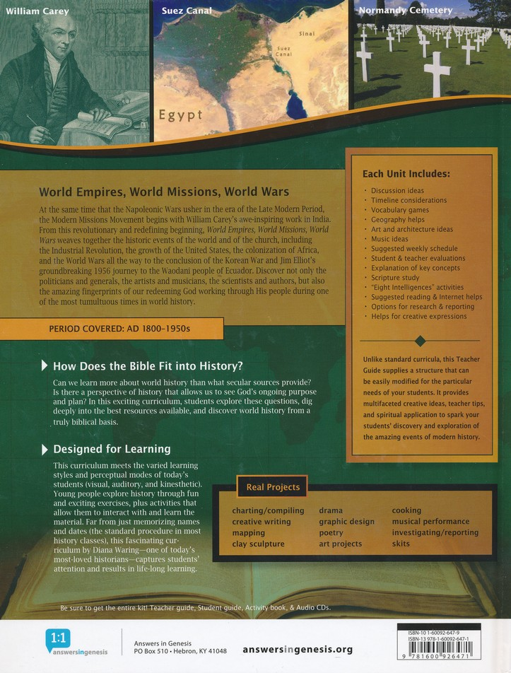 World Empires, World Missions, World Wars Teacher's Guide