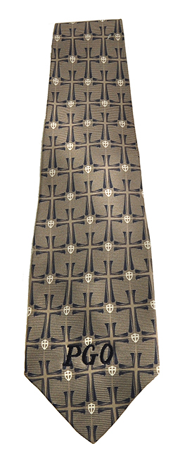 Crossover Tie, Blue and Gray
