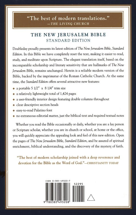 The New Jerusalem Bible, Standard Edition, Hardcover