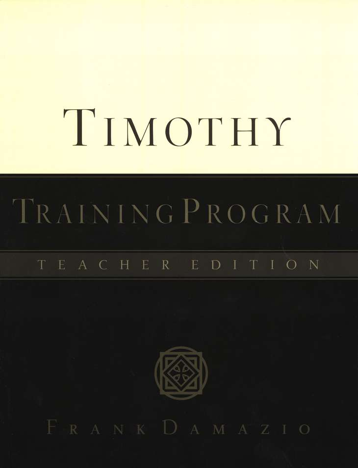 Timothy Training Program, Teacher's Guide