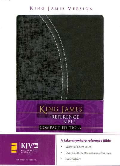 KJV Compact Reference Bible, Italian Duo-tone, charcoal/charcoal