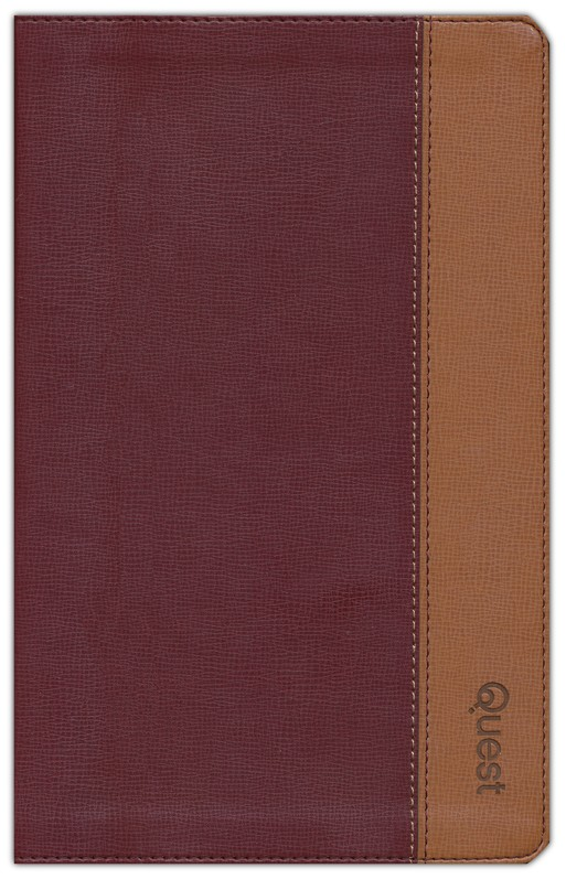 NIV Quest Study Bible, Personal Size: The Question and Answer Bible, Imitation Leather, Burgundy Tan
