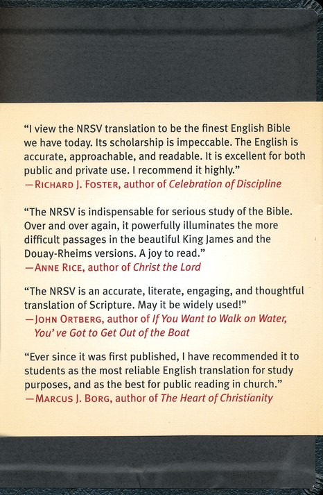 NRSV Bible XL, Black Imitation Leather