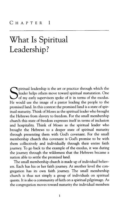 Spiritual Leadership in the Small Membership Church