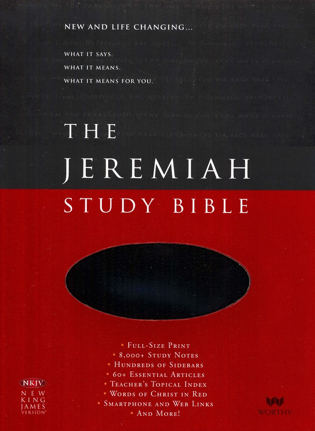 NKJV The Jeremiah Study Bible, Soft leather-look, Black