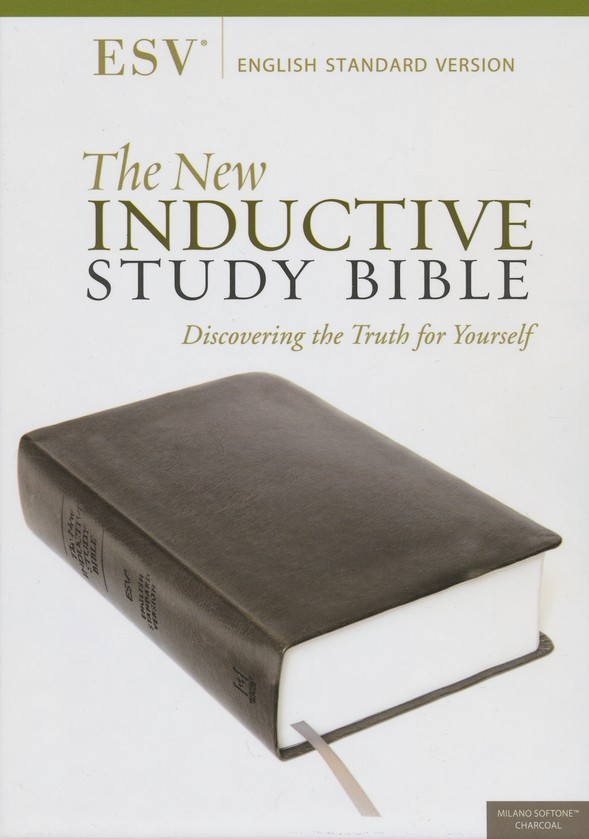 The ESV New Inductive Study Bible, Milano Softone, Charcoal