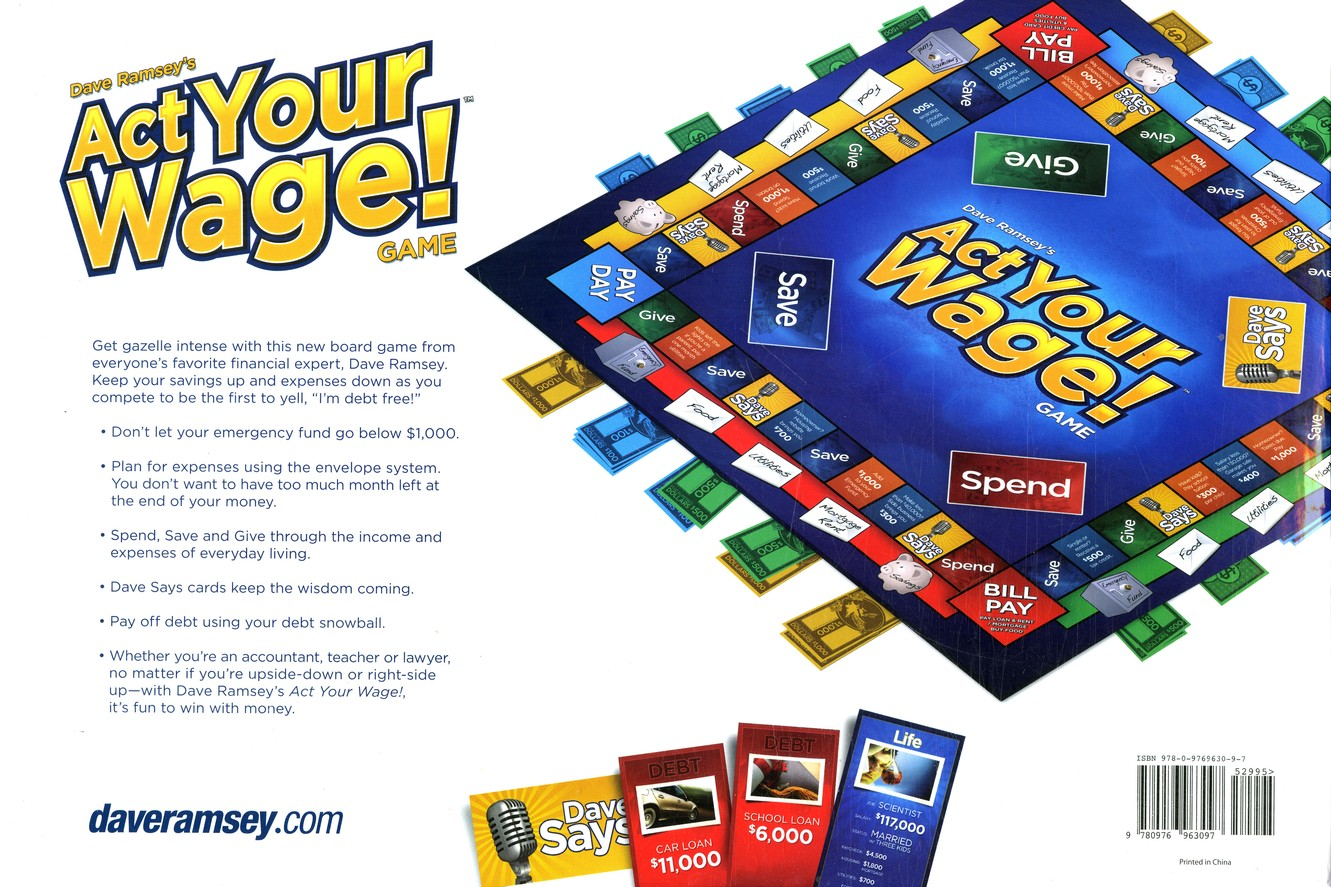 Act Your Wage! Boardgame