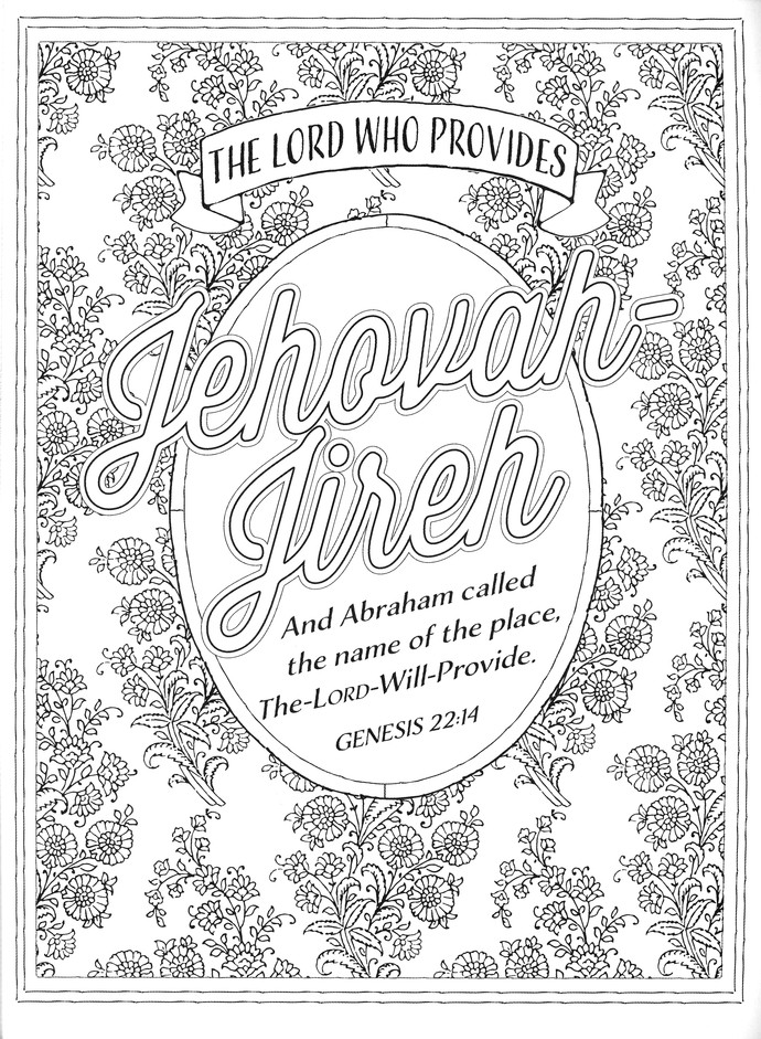 Color the Names of God: An Adult Coloring Book for Your Soul