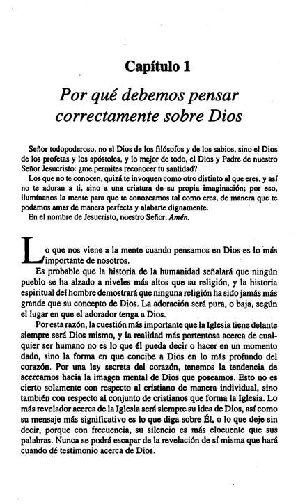 El Conocimiento del Dios Santo  (The Knowledge of the Holy)
