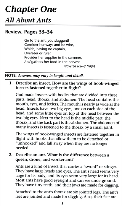 Christian Liberty Nature Reader 3 Answer Key, Grade 3