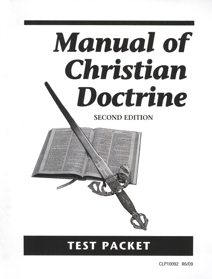 Manual of Christian Doctrine Test, Grades 11-12