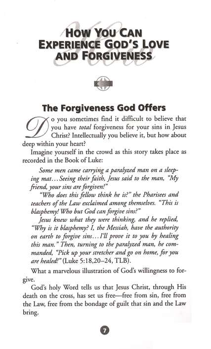 How You Can Experience God's Love and Forgiveness