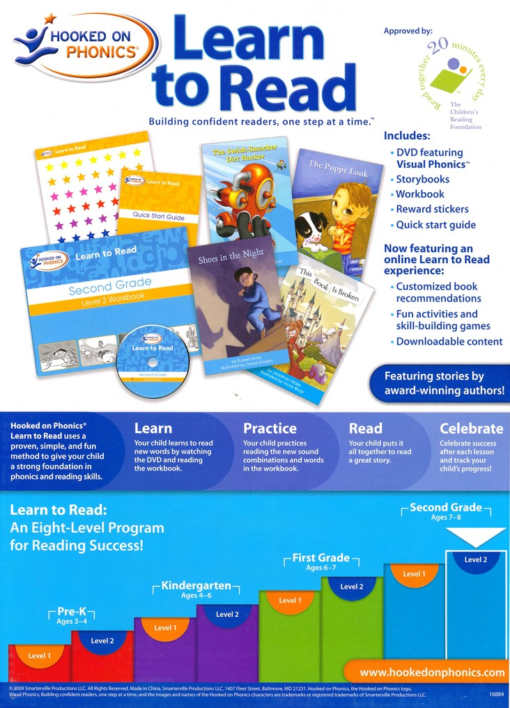 Hooked On Phonics: Learn To Read Second Grade Level 2