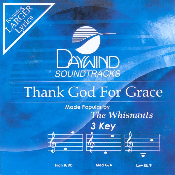 Thank God For Grace, Accompaniment CD