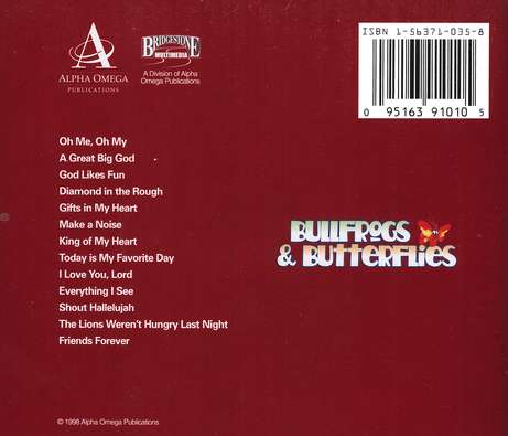 Bullfrogs & Butterflies: God Loves Fun CD