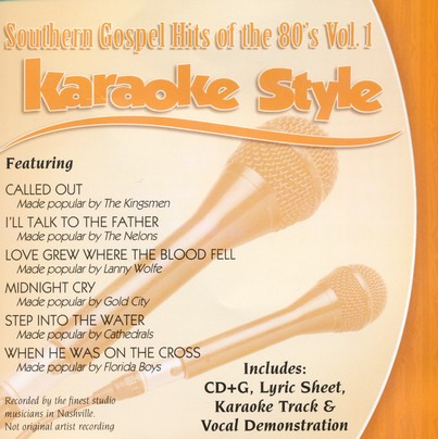 Southern Gospel Hits of the 80's, Volume 1, Karaoke Style CD