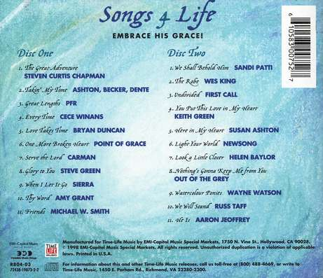 Songs 4 Life: Embrace His Grace! CD