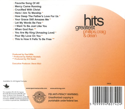 Greatest Hits: Phillips, Craig & Dean CD