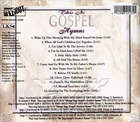 This Is Gospel: Hymns CD