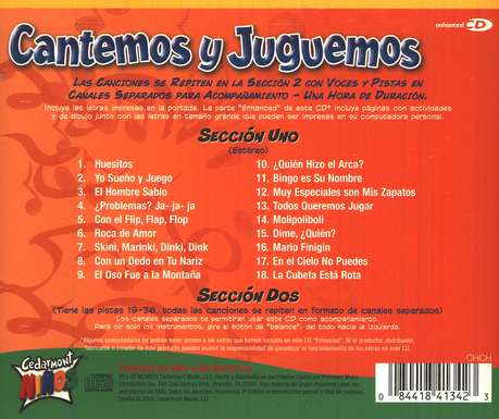 Cantemos y Juguemos  (Silly Songs), CD