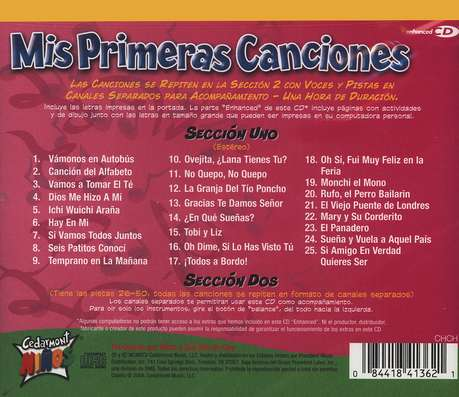 Mis Primeras Canciones/Toddler Tunes, Compact Disc [CD], Spanish Edition