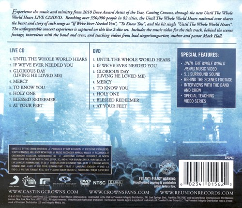 Until the Whole World Hears . . . Live--CD and DVD