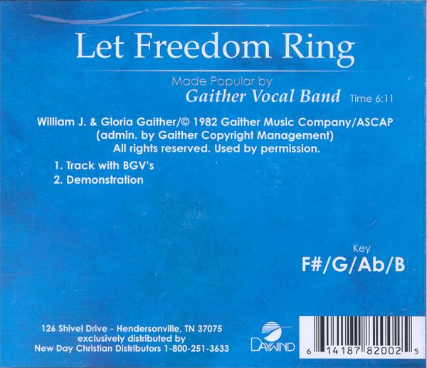 Let Freedom Ring, Accompaniment CD