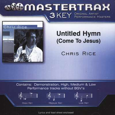 Untitled Hymn (Come To Jesus), Acc CD