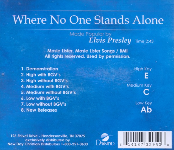 Where No One Stands Alone, Accompaniment CD