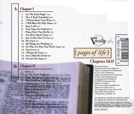 Pages of Life, Chaps. I & II, Compact Disc [CD]