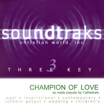 Champion Of Love, Accompaniment CD