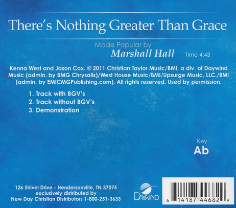 There's Nothing Greater Than Grace, Acc CD