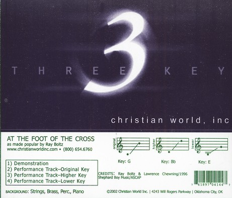 At The Foot Of The Cross, Accompaniment CD