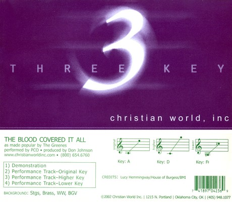 The Blood Covered It All, Accompaniment CD
